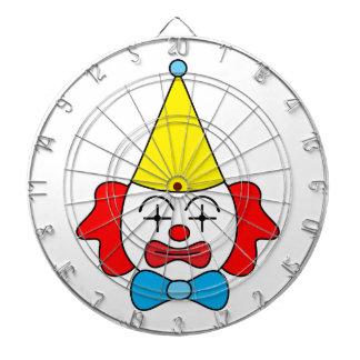 Clown - funny face. dartboard