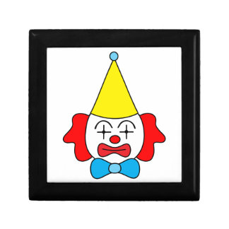 Clown - funny face. gift box