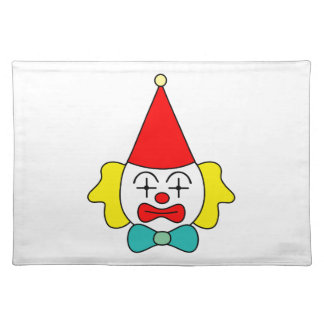 Clown - funny face. placemat
