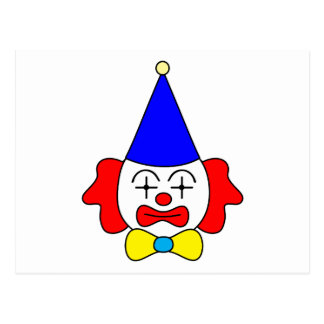 Clown - funny face. postcard