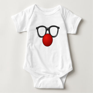Clown Glasses and Nose Baby Bodysuit