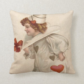 Clown Harlequin Heart Valentine Cushion