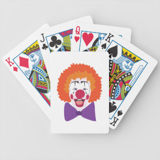 Clown Head Bicycle Playing Cards