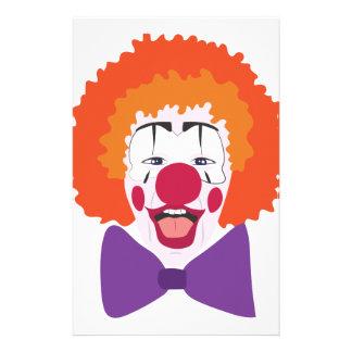 Clown Head Stationery