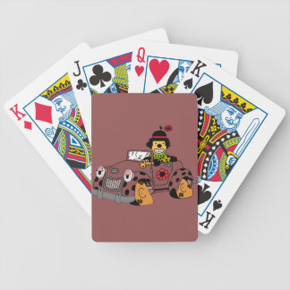 Clown in Car Bicycle Playing Cards