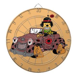 Clown in Car Dartboard