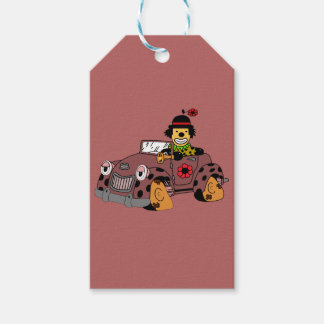 Clown in Car Gift Tags
