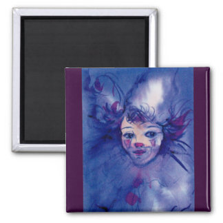CLOWN IN PURPLE MAGNET
