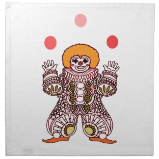 Clown Juggling Napkin