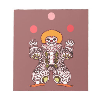 Clown Juggling Notepad