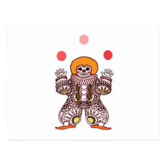 Clown Juggling Postcard