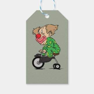Clown on Tricycle Gift Tags