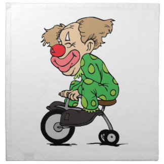 Clown on Tricycle Napkin