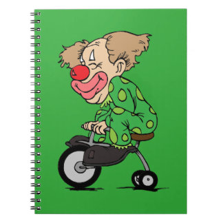 Clown on Tricycle Notebooks