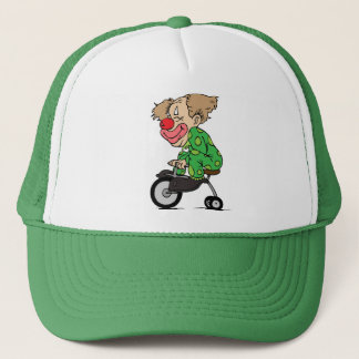 Clown on Tricycle Trucker Hat