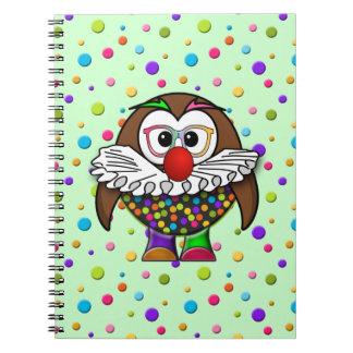 clown owl notebook