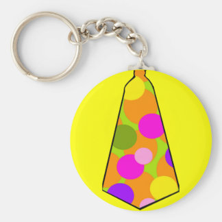 Clown Polkadot Gumball Tie Basic Round Button Key Ring