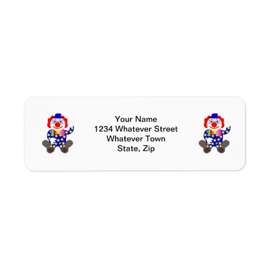 Clown Return Address Label