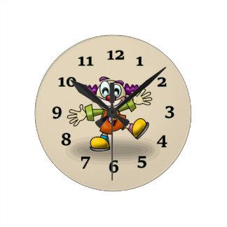 Clown Round Clock