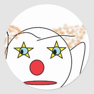 Clown Sketch Round Sticker