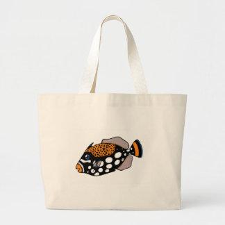 Clown Triggerfish Large Tote Bag