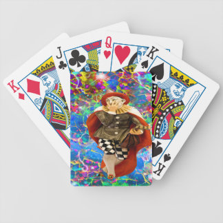 Clown Troubadour Bicycle Playing Cards