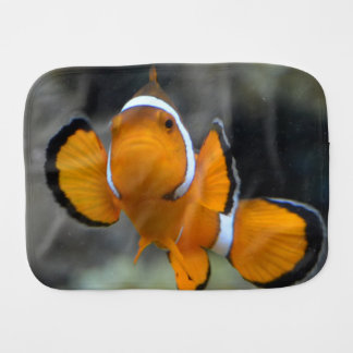 clownfish facing front burp cloth