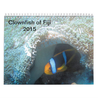 Clownfish of Fiji 2015 Calender Wall Calendar
