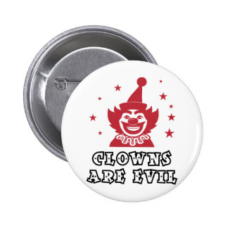 Clowns Are Evil 6 Cm Round Badge