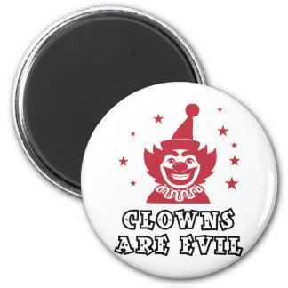 Clowns Are Evil 6 Cm Round Magnet