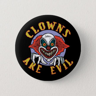 Clowns are Evil Button