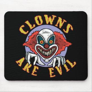 Clowns are Evil Mousepad Mouse Pads