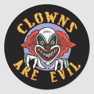 Clowns are Evil Stickers/Envelope Seals Stickers