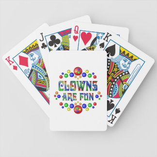 Clowns are Fun Bicycle Playing Cards