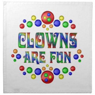 Clowns are Fun Napkin