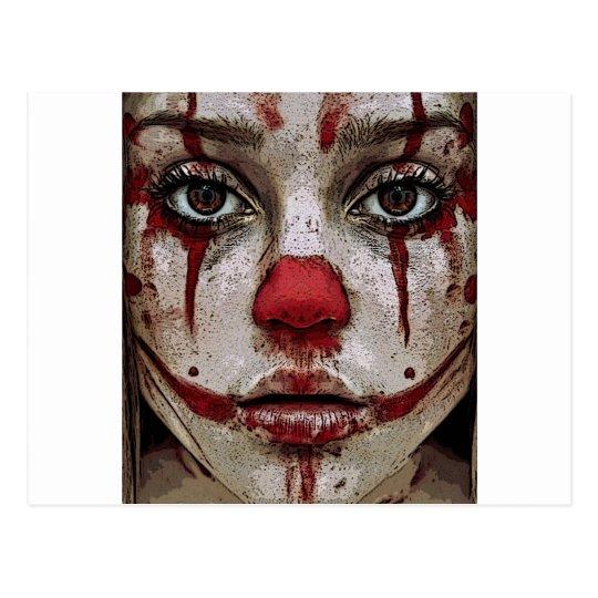Clown's face postcard