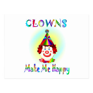 Clowns Make Me Happy Postcard