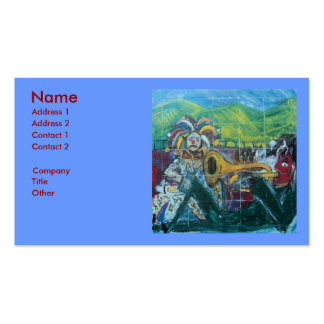 CLOWNS TRUMPET PLAYER Double-Sided STANDARD BUSINESS CARDS (Pack OF 100)