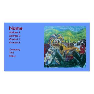 CLOWNS TRUMPET PLAYER BUSINESS CARD TEMPLATE