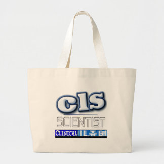 CLS LOGO - CLINICAL  LABORATORY SCIENTIST JUMBO TOTE BAG