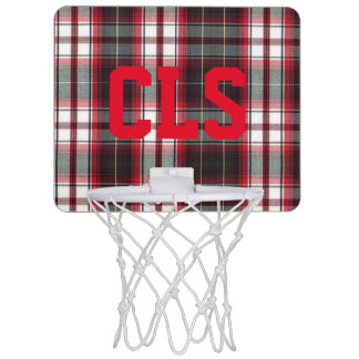 CLS Positively Plaid Mini Basketball Hoop