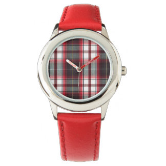 CLS Positively Plaid Red Banded Watch