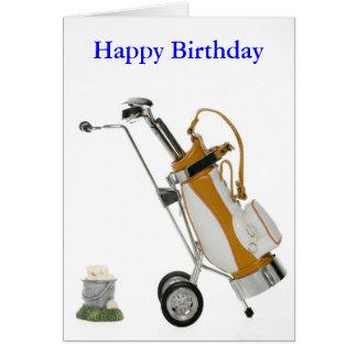 club and balls, Happy Birthday Card
