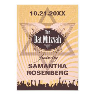 Club Bat Mitzvah 13 Cm X 18 Cm Invitation Card