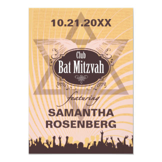 Club Bat Mitzvah Card