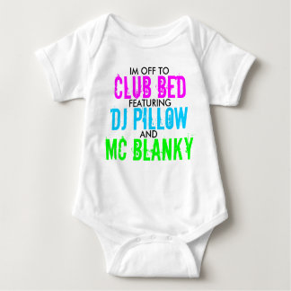 Club Bed Baby Bodysuit