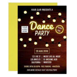 Club DJ Dance Music Party add logo invitation