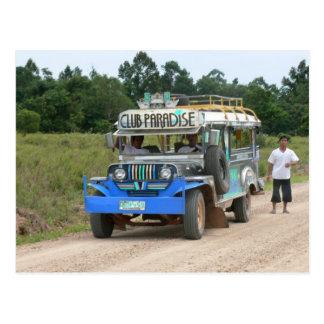 Club Paradise Jeepney Postcard