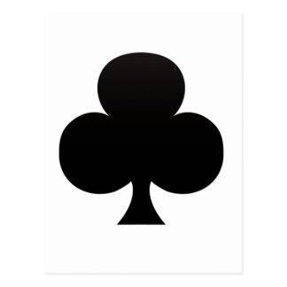 Club Poker Icon Post Card