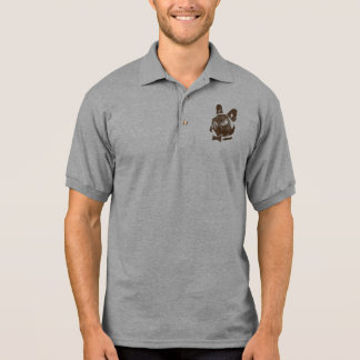 CLUBCHIEN Vintage Logo Chocolate Polo Shirt